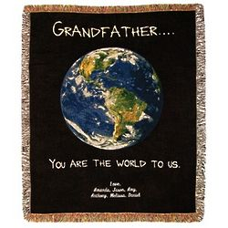 Grandfather You Are the World Tapestry Throw