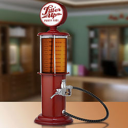 Red Retro Gas Pump Drink Dispenser