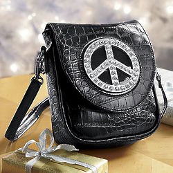 Croc-Embossed Peace Bag