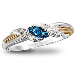 Sapphire and Diamond Embrace Ring