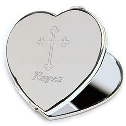 Inspirational Compact with Engraved Cross