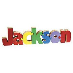 Primary Colors Kid's Name Puzzle