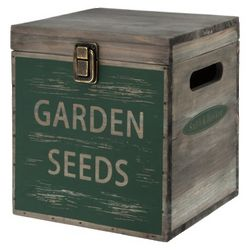 Wooden Storage Seed Box with Chalkboard Lid