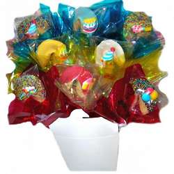 Birthday Chocolate-Dipped Fortune Cookie Bouquet