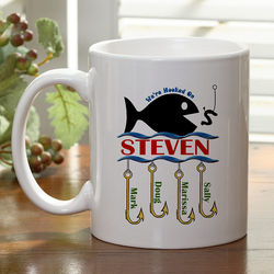 Personalized Small Hooked On You Coffee Mug