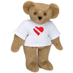 Heart Scuba Dive Flag Teddy Bear