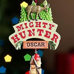 Personalized Mighty Hunter Ornament