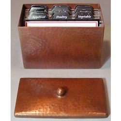 Roycroft Copper Recipe Box