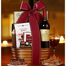 C'est L'Amour French Wine and Chocolates Basket
