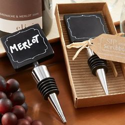 4 Chalkboard Bottle Stoppers