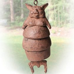 Cast Iron Pig Chime