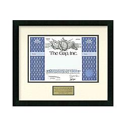 Gap Stock Certificate