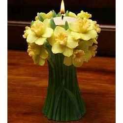 Jonquil Daffodil Bouqet Tea Lite Candle