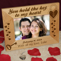 Key to My Heart Personalized Wood Frame