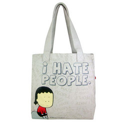 I Hate People Canvas Tote