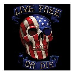 Live Free or Die Flag Skull T-Shirt