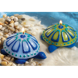 Azure Sea Turtle Candle Set