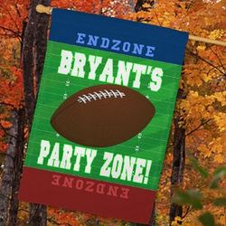 Personalized Football Party Zone House Flag