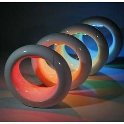 LED Color Changing Lune Accent Lamp