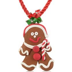Gingerbread Man Necklace