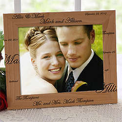 Personalized Mr. and Mrs. Wedding Picture Frame