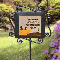 Personalized Welcome Garden Stake