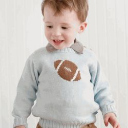 Intarsia Knit Football Sweater