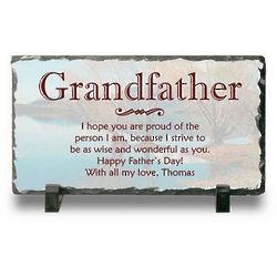 Grandpa's Personalized Slate Desk Plaque