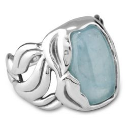 Meadow Mist Aquamarine Sterling Silver Ring