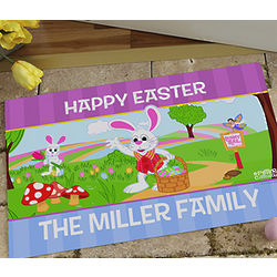 Peter Cottontail Personalized Doormat