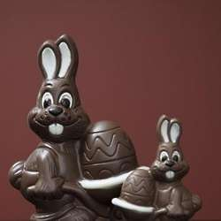 Easter Bunny with Egg Barrel Milk Chocolate