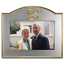 Silver and Gold 50th Anniversary Frame