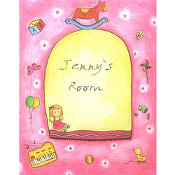 Jenny's Room Personalized Art Print