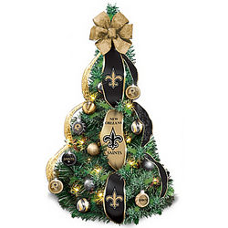 New Orleans Saints Pre-Lit Pull-Up Christmas Tree