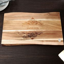 In the Raw Personalized 11x17 Family Home Cutting Board