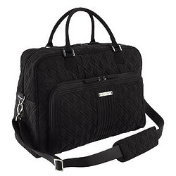 Quilted Classic Black Weekender Bag