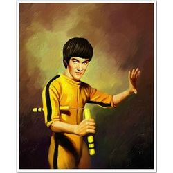 Bruce Lee Oil Painting Print