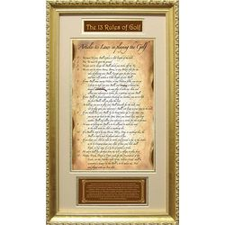 Original 13 Rules of Golf Framed Print