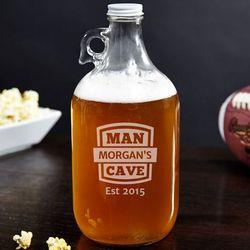Man Cave Established Personalized Beer Growler