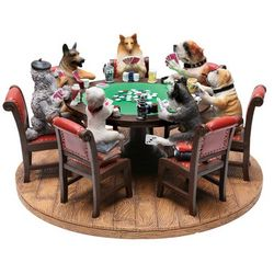 Dogs Playing Poker Figurine