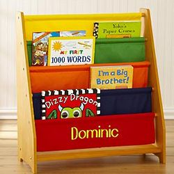 Primary Colors Personalized Canvas Bookshelf