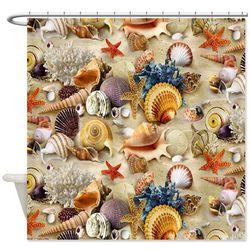 Fancy Seashell Shower Curtain