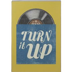 Turn It Up Vinyl Record Sign