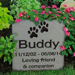 Pet Grave Marker Engraved Large Stone