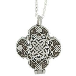 Celtic Cross Pewter Prayer Locket