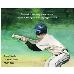Personalized Baseball's Sacrifice Fine Art Print