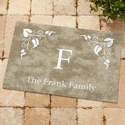 Elegant Monogram Family Doormat