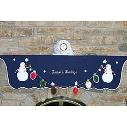 Personalized Snowman Mantle Scarf