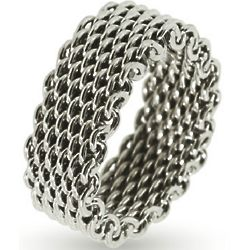 Tiffany Inspired Sterling Silver Mesh Ring