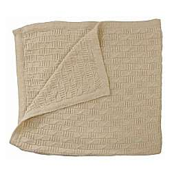 Luxurious Organic Woven Baby Blanket